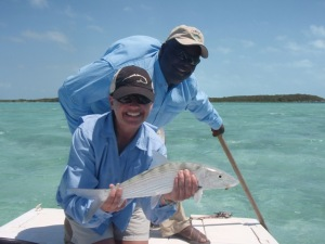 Fly Fish Chick with an Exuma Bone